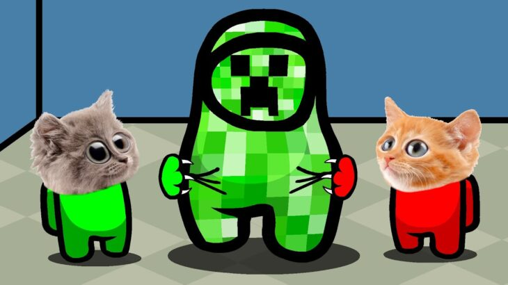 Among us But It's A Cute Zombie and Сreeper With Kittens (Among us Cat Version) #4